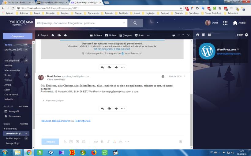 Răspuns la emailul din 18.02, ora 2144